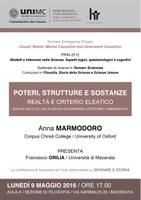 Anna MARMODORO, Poteri, strutture e sostanze