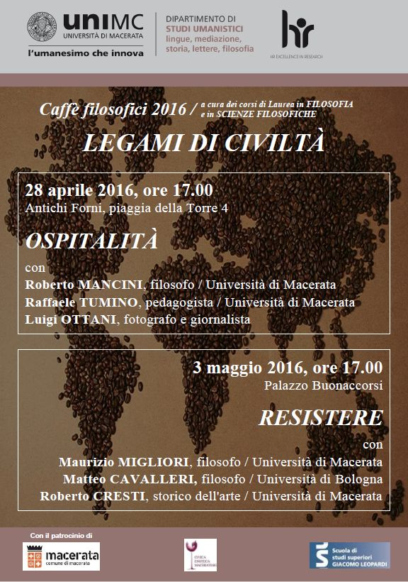 Caffè FILOSOFICI: legami di CIVILTA'