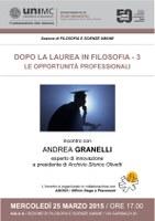 Dopo la laurea in FILOSOFIA