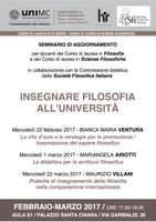 Insegnare FILOSOFIA all'UNIVERSITA'