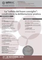 """LA """"CELLULA DEL BUON CONSIGLIO"""": condividere la deliberazione pratica"""