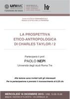 La prospettiva ETICO-ANTROPOLOGICA di Ch. TAYLOR