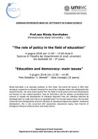 Mindy Kornhaber, The role of policy / Education and democracy