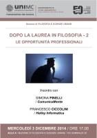 Opportunità PROFESSIONALI per i laureati in FILOSOFIA