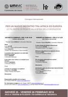 Per un nuovo INCONTRO tra AFRICA ed EUROPA