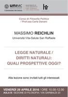 REICHLIN, LEGGE naturale / DIRITTI naturali: quali prospettive oggi?