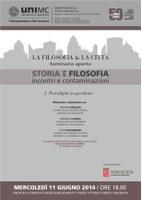 STORIA e FILOSOFIA: incontri e contaminazioni