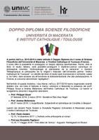 DOPPIO diploma Scienze FILOSOFICHE