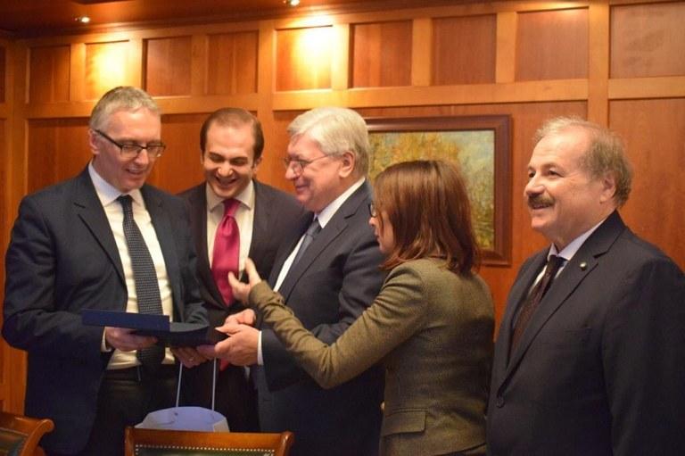 UniMC in Russia con il presidente Luca Ceriscioli, si rafforza la collaborazione con Mosca