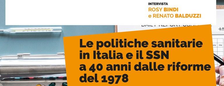 SEMINARIO. Le politiche sanitarie in Italia e il SSN a 40 anni dalle riforme del 1978