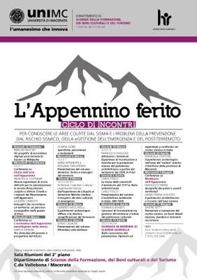 Ciclo seminari 2017 Appennino Ferito