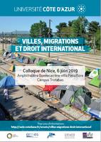 Colloque de Nice - Villes, migrations et droit international - 6 juin 2019